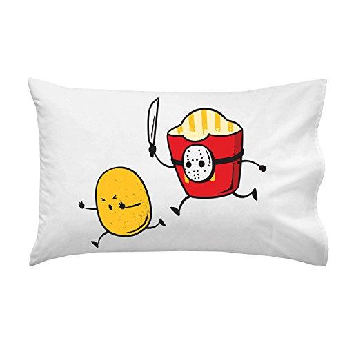 Hat Shark French Fried Jason Funny Horror Film Parody - Pillow Case Single Pillowcase