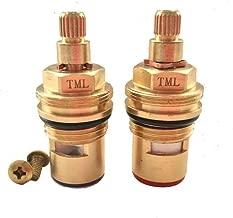 Replacement Brass Ceramic stem Disc cartridge Faucet Valve Quarter turn PAIR 1/2