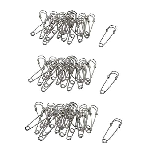 IPOTCH 60x Sicherheitsnadeln Große Stahlnadel Pack Set Baby Windel Bulk Sale 2/2.5 / 3inch