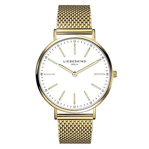 Liebeskind Berlin Damen Analog Quarz Uhr mit Edelstahl Armband LT-0189-MQ