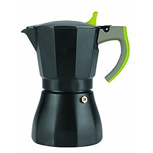 IBILI 621103 - Caffettiera Espresso per 3 Tazze, in Alluminio, Colore: Verde