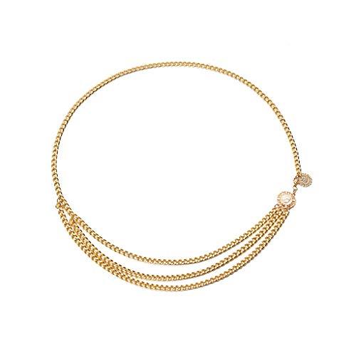 WYTong Women Casual Dress Belt Women's Metal Thin Belt Simple Wild Summer Dress Charm Body Chain Jewelry Waist chain