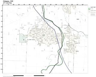 ZIP Code Wall Map of Ontario, OR ZIP Code Map Laminated