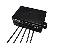 12 V / DC (11 - 14 V / DC) current consumption approx. 2 mA / 35 mA (relay off / on) 1 x UM, load capacity max. 25V / 3A Operating temperature range about -15 - + 50 ° C Switch on the light intensity approx. 25 lux ± 20% Turn off the light intensitya...