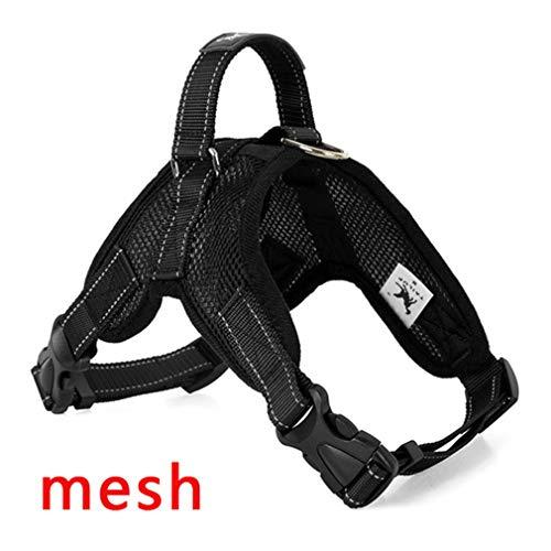 Productos para Mascotas para arneses para Perros Grandes K9 Collar de Led resplandeciente Cachorro de Plomo Mascotas Chaleco Correas para Perros Accesorios Chihuahua Black Mesh M