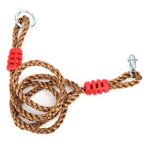 Bicaquu Corrosion and Weather Resistance Swing Rope, Carabiner is Made of Industrial‑Strength Steel Bearing Lengthen Rope, Adjustable Length for Hammock Swing