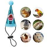 Heyu-Lotus Sombrero de pequeño animal, disfraz de cumpleaños para hámster, gato, conejillo de indias, ardilla, chinchilla