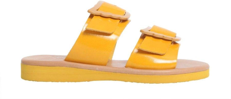 ANCIENT GREEK SANDALS Women's IASOVACHETTAYELLOW Yellow Leather Sandals
