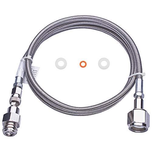 Manguera adaptadora directa para tanque de CO2 de Soda Club CGA320 a TR21-4 de 60 pulgadas con accesorios de conexión directa a la máquina de hacer flujo de soda (60 pulgadas)