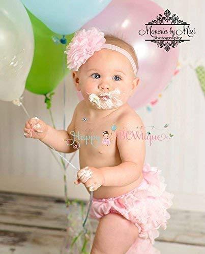 Newborn Baby Girl Pink Bloomer Set~ Baby Girl 1st Cake Smash Bloomer Set