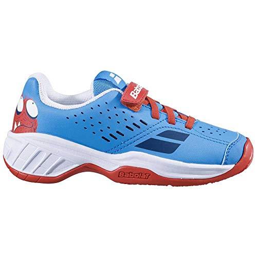 Babolat Jungen Unisex Kinder Pulsion All Court Kid Tennisschuhe, Tomato Red/Blue Aster, 34 EU