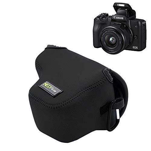 MPTECK @ Funda Cámara Reflex Neopreno Protectora para Canon EOS M50 y Objetivo de 15 45 mm