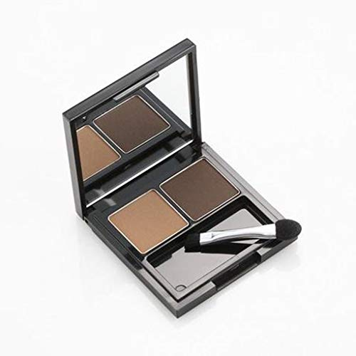SKINFOOD Choco Eyebrow Powder Cake (#2 Grey Brown) - Eyebrow Powder Duo, Natural Eyebroow Makeup, Natural Cacao Elemnet Contained