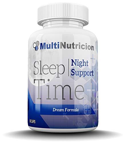 Sleep Time | Innovadora formula que combate el estrés, el insomnio y la ansiedad | L- Arginina | Triptofano | GABA | Melatonina | Glutamina | Valeriana | 90 Capsulas