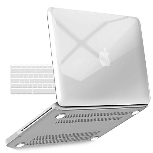IBENZER MacBook Pro 13 Inch case A1278 Release 2012-2008, Plastic Hard Shell Case with Keyboard Cover for Apple Old Version Mac Pro 13 with CD-ROM, Crystal Clear, P13CYCL+1 N