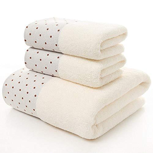 YHWW Toalla de baño,Hotel de 5 Estrellas Juego de Toallas 100% algodón con Estampado dePuntosToalla de baño Toalla de Cara Gruesa Secado rápido SuaveAlto Absorbente, 01,70 x 140 cm