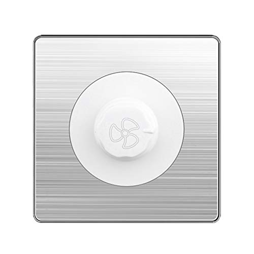 Panel de acero inoxidable blanco Interruptor de pared Regulador de velocidad Ventilador Ventilación Luz de velocidad Ajuste de ajuste Interruptor Interruptor Interruptor de la perilla Interruptor Luz