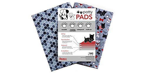 Caldwell's Potty Pads: Washable, Reusable, Leakproof, Absorbant Dog Pee Pads, Housebreaking/Training/Travel/Crate/Kennel/Whelping/Senior Care/Apartment Living (30