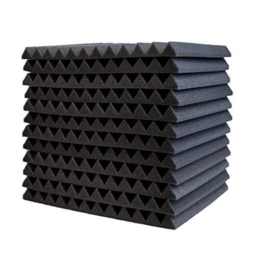 12pcs Noppenschaumstoff (ca.30 * 30 * 2.5cm) Akustik Schaumstoff Akustikschaumstoff Dämmung Pyramiden Akustik Schaumstoff Fliesen, Akustik Dämmung Studio-Dämmplatten
