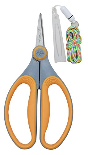 """Westcott 6"""" Titanium Precision Scissors (1 Count, Yellow)"""