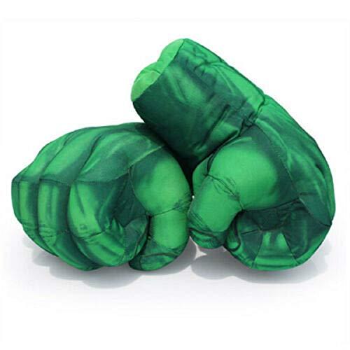 Die Avengers kreative Handschuhe Plüschtiere, Kinder Boxhandschuhe Super Hero, Cosplay Kostüm Spielzeug Fäuste zum Geburtstag Weihnachten Halloween Geschenk (Hulk)