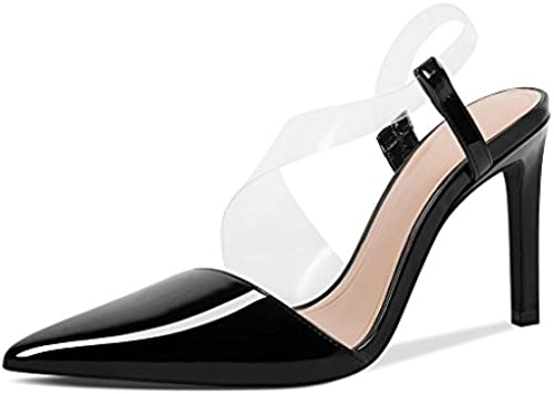 JIANXIN Frühling Sommer Damenschuhe Stilettos High High High Heels Leder Spitz Lackleder Flacher Mund Baotou Frauen Sandalen (Größe   EU 36 US 5.5 UK 3.5 JP 23cm)  heißer Verkauf online