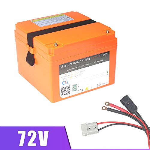 LiRongPing 72V 5000W Moto Scooter Elettrico Batteria al Litio 72V 20AH 30AH 40AH Batteria Portatile (AC : B, Size : C)