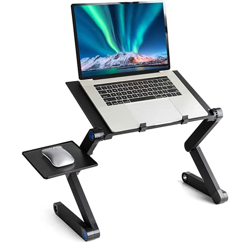 """Mksutary Laptop Ständer Höhenverstellbar, Ergonomisch Notebook Ständer, Laptop Stand Tragbar, Klappbar Laptopständer Kompatibel mit 10-17""""Laptops Tablet"""