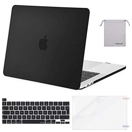 MOSISO Funda Dura Compatible con 2019 MacBook Pro 16 Pulgadas con Touch Bar A2141, Delgado Plástico Carcasa Rígido & Cubierta de Teclado & Protector de Pantalla & Bolsa de Accesorios, Negro