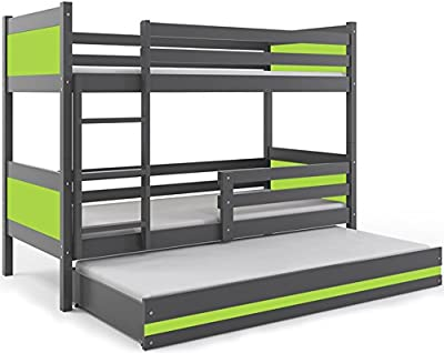 LITERA INFANTIL TRIPLE (3 camas) 190x80, color gris (LOS PANELES EN VARIOS