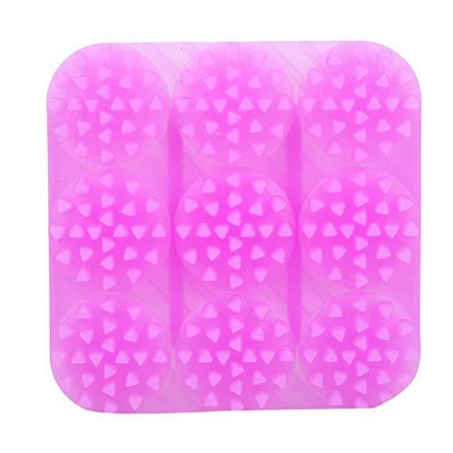 für Kinder und Erwachsene, Kopfhautbürste Haarwäscher, Baby-Bad-Werkzeug Nass- und Trockenshampoo-Bürste,(purple)