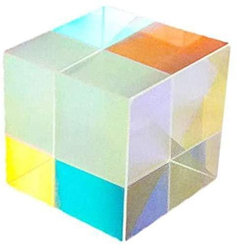 DEKA.O84 Optisches Glas X-Cube Dichroic Cube Prisma für den Unterricht in Lichtspektrumphysik 12,7 * 12,7 * 12,7 mm