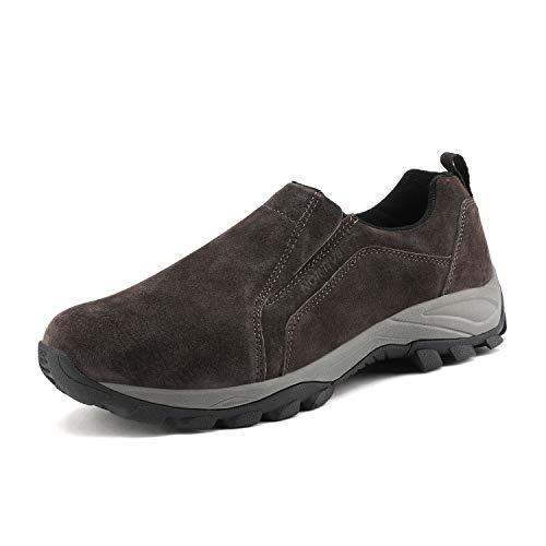 NORTIV 8 Men's Jungle Moc Slip On Loafer Walking Shoes JS19007M Brown Size 10.5 M US