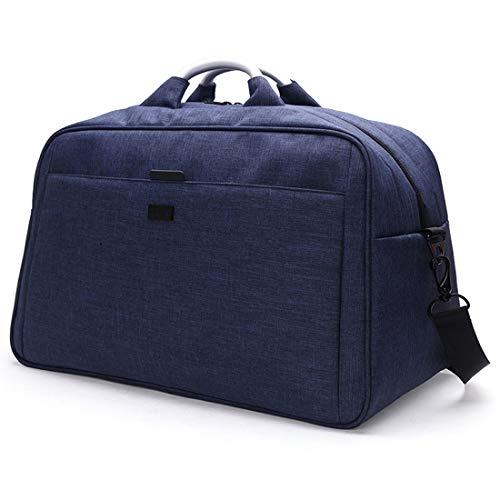 HOUYAZHAN Reisetasche Safari Große Kapazität Reisetasche Aufbewahrungstasche Faltbare Boarding Space Aluminium Hand Erhöhte Schlechte Fitness Lässig Kurze Tasche (Color : Blue)
