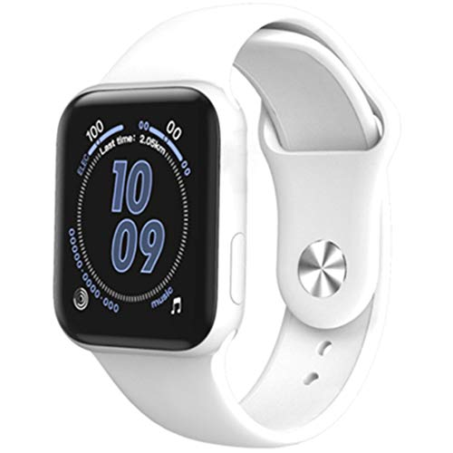 ICENCREN GPS Bluetooth Relojes Inteligentes, Control De Actividad con La Medición De La Temperatura Corporal Y Ritmo Cardíaco, Una Función De Oxímetro De La Presión Arterial Medidor,Blanco