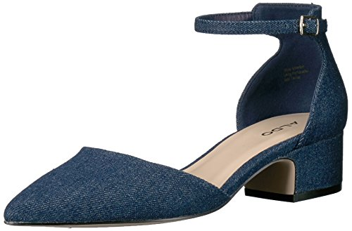 ALDO Women's Zusien Mary Jane Flat, Navy, 8 B US