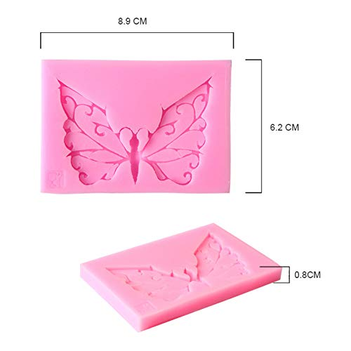 INTVN 1 PiezaSilicone Butterfly Sugar Art Gum Paste Mold, Mold,DIY Cake Decorating Mold Cake Decorating Tools
