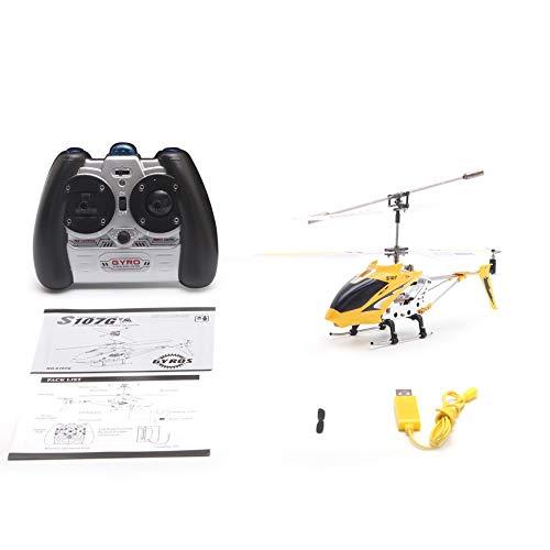 Peanutaod - Mini helicóptero teledirigido Syma s107g gyro de Metal, Radio por Infrarrojos, 3 Canales, Mando a Distancia