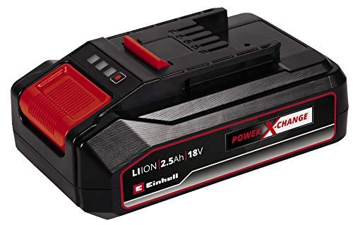 Einhell Batería 2.5 Ah Power X-Change (iones de litio, 18 V, máx. 720 W, universal para todos los aparatos Power X-Change, sistema de gestión activa de batería ABS, controlado por el proceso)