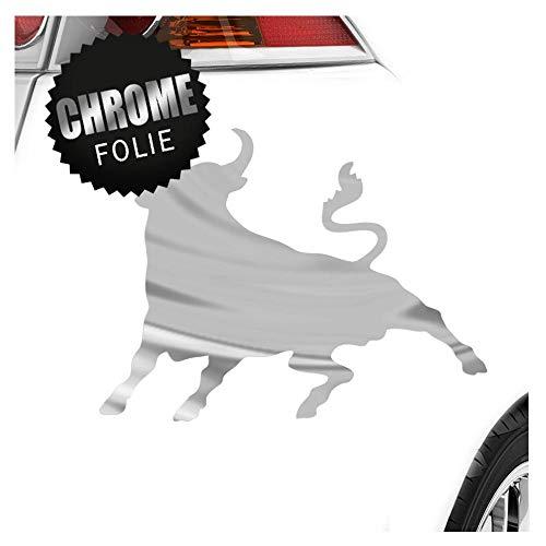 Kiwistar Stier Toro Bull 13 x 10 cm IN 15 Farben - Neon + Chrom! Sticker Aufkleber