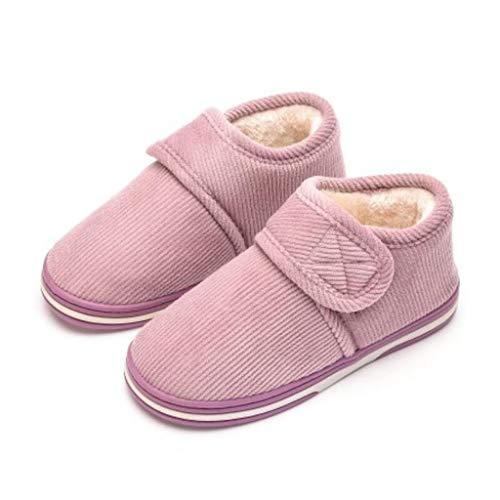 AYDQC Zapatos de la Plataforma de Invierno Mujeres al Aire Libre Zapatillas para Casas de Invierno Hembra Diapositivas de Invierno Casa Sandalias Fuzzy Slippers Ladies (Color : B, Size : Code 39)