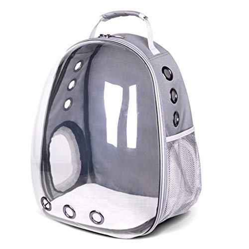 ZZALLL Cápsula Transparente Transpirable Pet Cat Puppy Travel Space Mochila Bolsa de Transporte - Gris