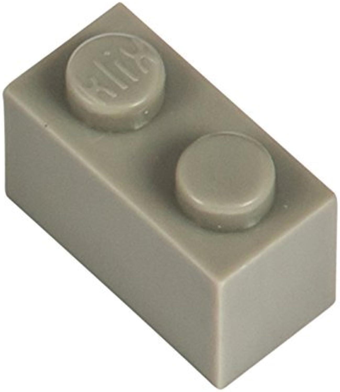 Q-Bricks 2 x 1-Stud Bausteine lose Pack (500 Stk, Stein grau) B015XXUQ7U  Qualitätskönigin | Deutschland Shops