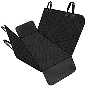 BEIKOTT Dog Car Seat Covers, Pet Seat Cover, Anti-Scratch Waterproof Car Seat Cover, 600D Heavy-Duty Car Backing Pet Hammock with Side Flaps for Cars Trucks SUVs