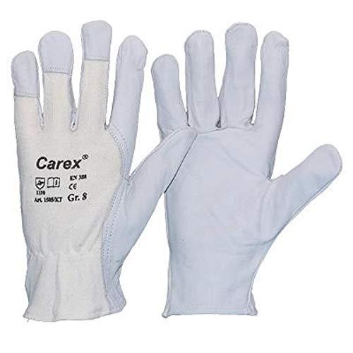 10 Paar Carex® Nappaleder-Handschuhe, Größe:7