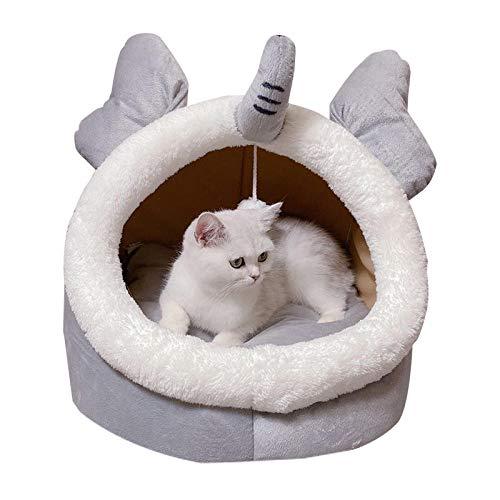 Cama para Perros de Felpa Suave y cálida Cama para Perros Cama para Dormir mullida sofá para Mascotas Perros pequeños y medianos de Varios tamaños -Bebé Elefante_M-45 * 42 * 34