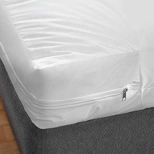 DMI Zippered Mattress Cover Protector, Waterproof, Twin Size, White