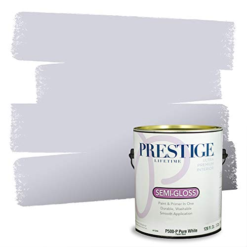 Prestige Paints Interior Paint and Primer In One, 1-Gallon, Semi-Gloss, Comparable Match of Benjamin Moore* Iced Lavender*