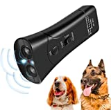 Handheld Anti Barking Device & Ultrasonic Dog Bark Repellent Training Multi-Functions Pet Anti-Barking Silent Commands with LED Flashlight for Safety,Outdoor,Walking,Dog Trainer 100% Pet & Human Safe