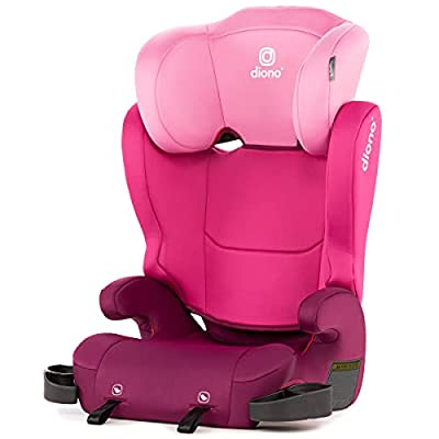 Diono Cambria 2 Latch, 2-in-1 Belt Positioning Booster Seat, High-Back to Backless Booster XL Space & Room to Grow, 8 Years 1 Booster Seat, Pink from AmazonUs/SULY9